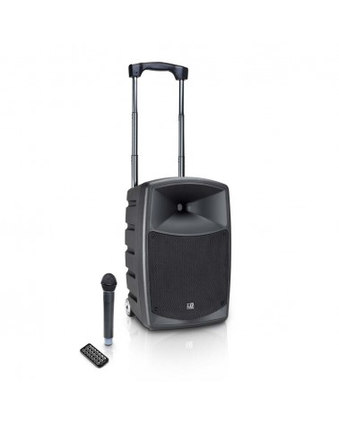 LD Systems ROAD BUDDY 10 - Battery Powered Bluetooth Speaker with Mixer and Wireless Microphone