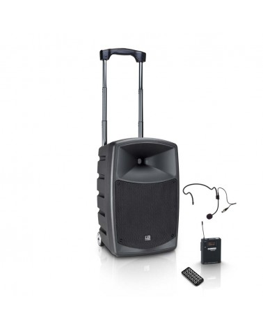LD Systems ROAD BUDDY 10 HS - Battery Powered Bluetooth Speaker with Mixer, Bodypack and Headset