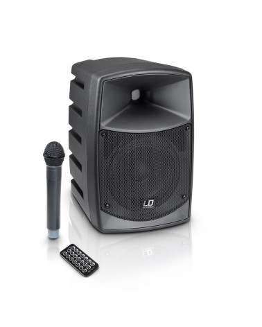 LD Systems ROAD BUDDY 6 - Battery Powered Bluetooth Speaker with Mixer and Wireless Microphone